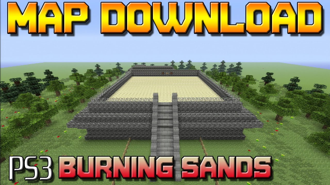 Minecraft PS3: Burning Sands Mini Game Map Download