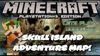 Minecraft PS3: Skull Island Adventure Map Download