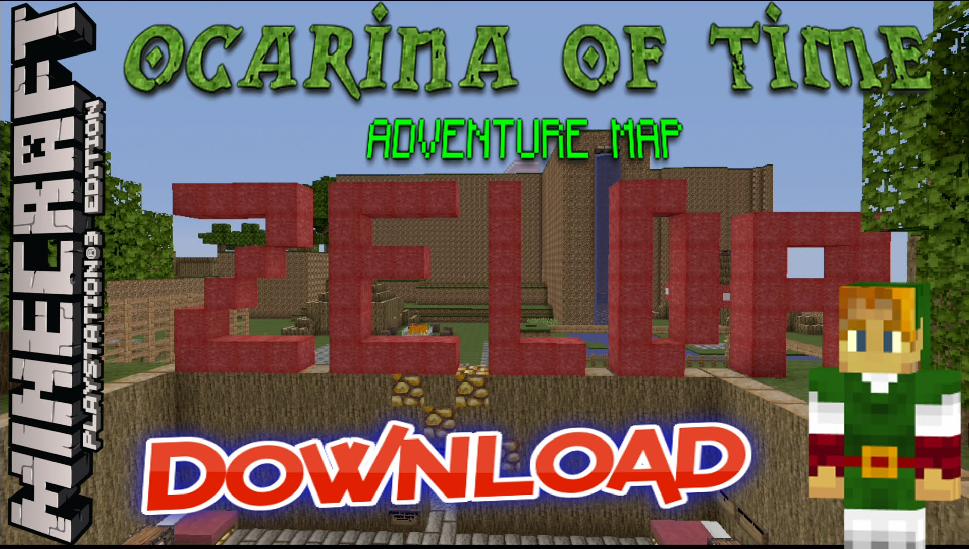 Minecraft PS3: Zelda Ocarina of Time Adventure Map